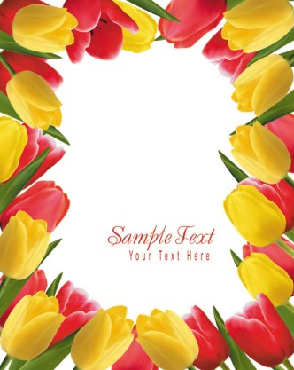 Valentine's Day Tulip Vector 03