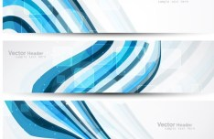 Vector Abstract Business Header 02