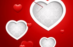 Vector Valentine's Day Background with Hearts and Arrows