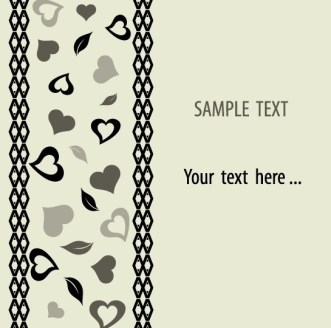 Vector Valentine's Day Greeting Card 01