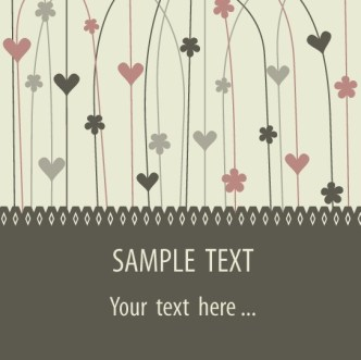 Vector Valentine's Day Greeting Card 02