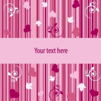 Vector Valentine's Day Greeting Card 03