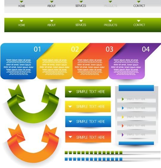Website Navigation Bar Vector Materials 02