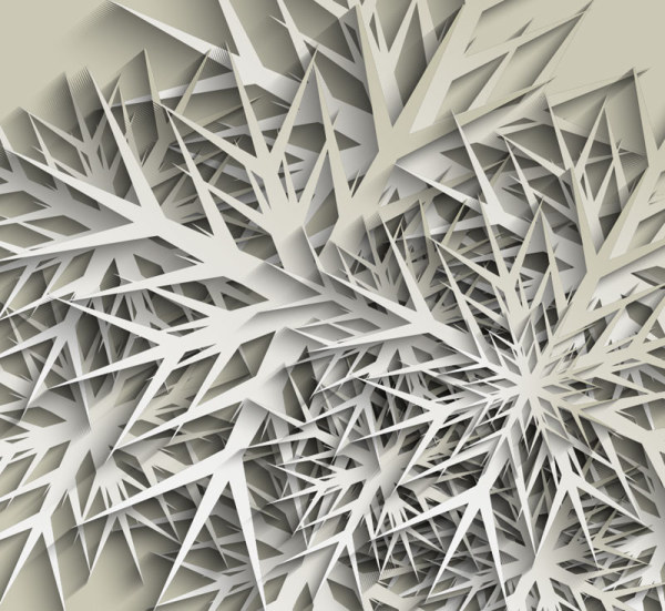 White Paper-cut Patterns Vector