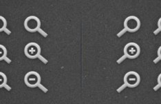 Zoom In and Zoom Out Magnifying Glass Icons