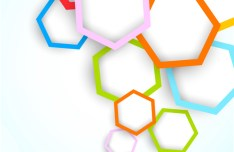 Abstract Colored Hexagon Background Vector