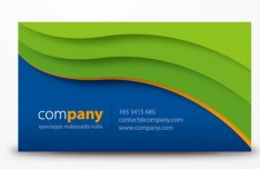 Creative Vector Business Cards with Wave Background