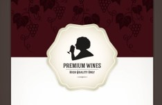 Premium Wines List Cover Vector