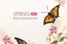 Spring 2013 Floral Background Vector 01
