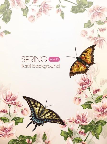 Spring 2013 Floral Background Vector 01
