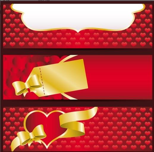 Valentine's Day Red Banner Vector 01