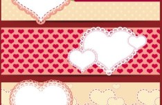 Valentine's Day Red Banner Vector 02