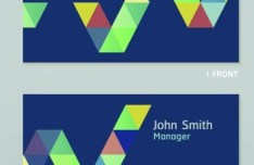 Blue Business Cards and Corporate identity Vector 02