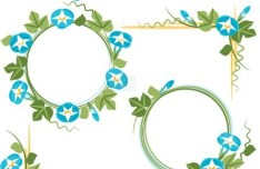Hand Drawn Florals Border Vector 01