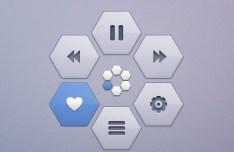 Pop-Up Menu with Hexagon Buttons