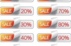 Sales Discounts Vector Labels