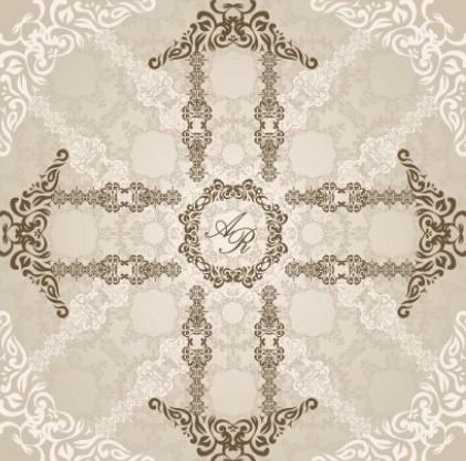 Wedding Invitation Patterns Vector 02