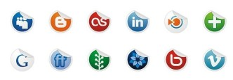 Neat and Clearn Social Media Label Icons Set 02