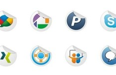 Neat and Clearn Social Media Label Icons Set 03