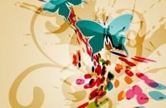 Vintage Hand-drawn Style Florals Background Vector 02