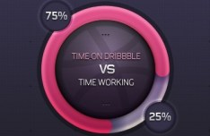 Dribbble Pie Chart PSD