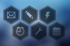 Hexagon Web Icon Set