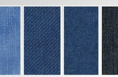 4 Colors Denim Fabric Background Textures