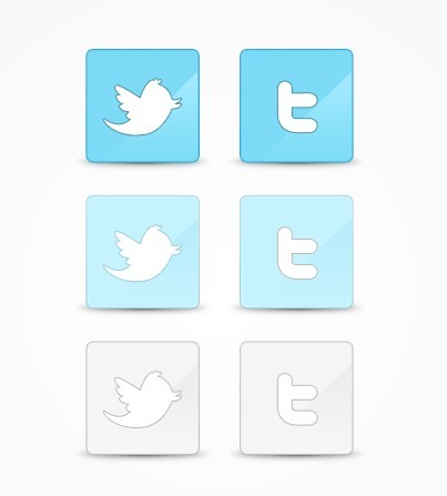 Clean Twitter Icons