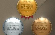 Premium Quality Award Badges Template PSD