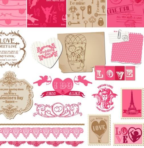 Set of Valentine's Day Elements 01