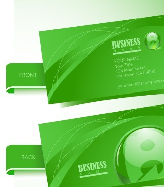 Green Business Card Template Vector