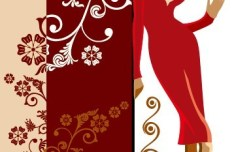 Fashion Pattern Girl Vector Illustration 01