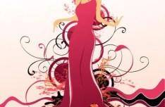 Fashion Pattern Girl Vector Illustration 04