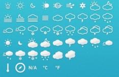 Metro Style Weather Icons PSD