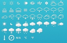 Metro Style Weather Icons PSD