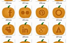 Pumpkin Style Social Media Icon Set
