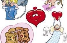 Valentine's Day Cartoon Elements Vector