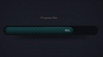 Dark Green Progress Bar PSD