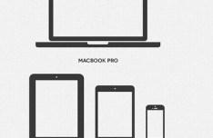 Grey Apple Device Icons PSD