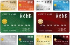 Set Of Credit Card Templates Vector