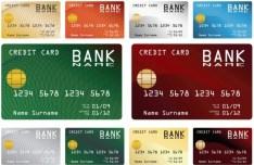 Set Of Credit Card Templates Vector