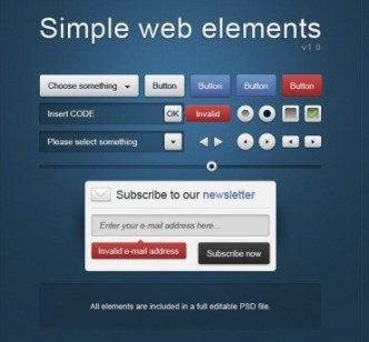 Simple Web Elements PSD