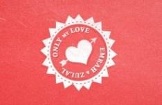 Vintage Pink Valentine's Day Sticker PSD