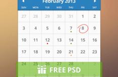 Clean Calendar Design PSD