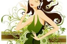 Fashion Pattern Girl Vector Illustration 44