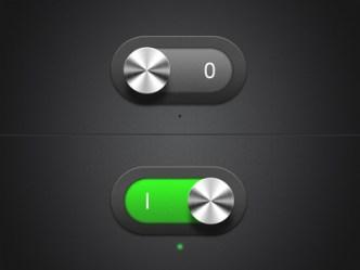 Dark Metal Switch Buttons PSD
