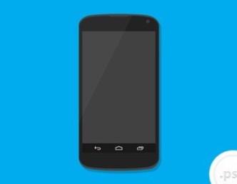 Google Nexus 4 Mockup Psd
