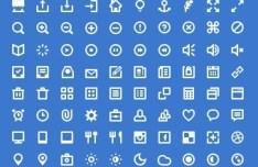 Shades of White Icon Set