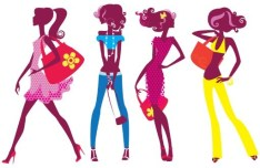 Cartoon Fashion Girls Vector 08