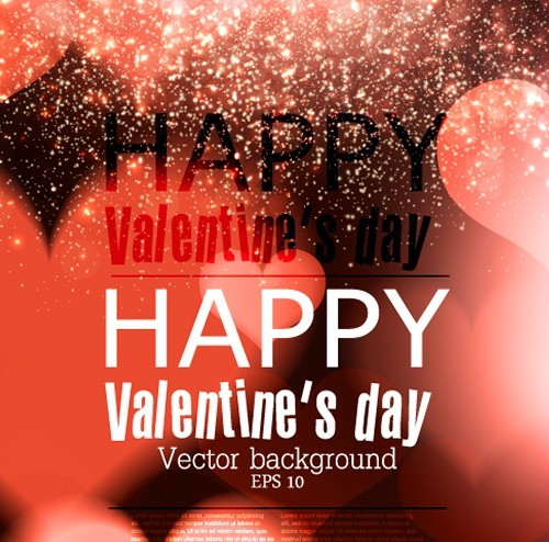 Elegant Happy Valentine's Day Background Vector 01